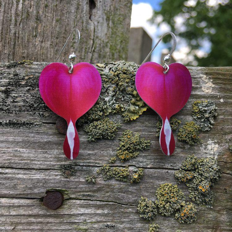Bleeding Hearts earrings by Photofinish Jewellery