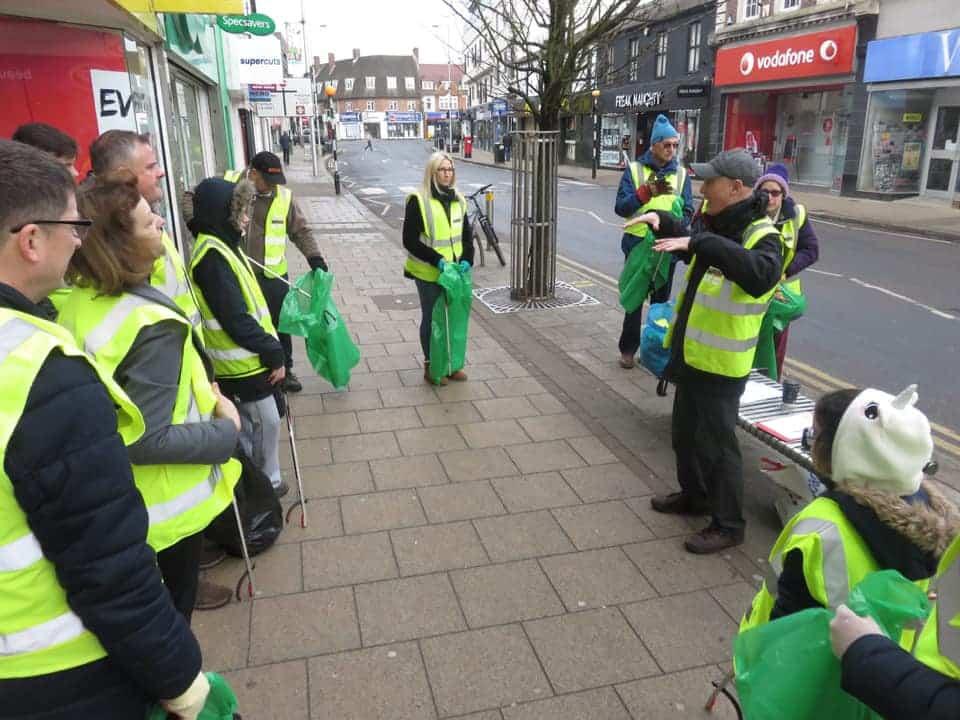 Litter picking group