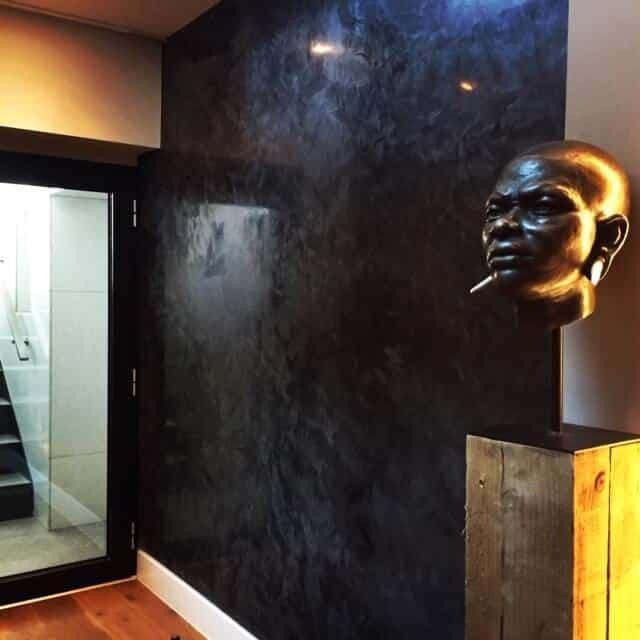 Black Polished Plaster Wall London